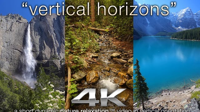 VERTICAL Horizons w Just Nature Sounds - a Vertical Nature Relaxation Video