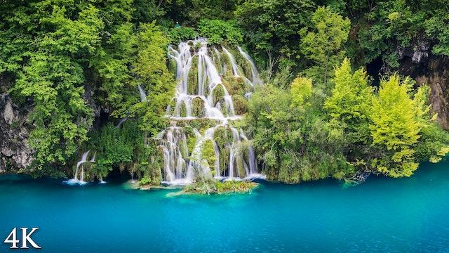 Crystal Waterfalls of Croatia (4K + Music) Plitvice Lakes Natl Park Nature Film