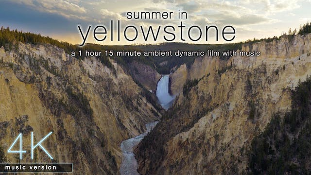 Summer in Yellowstone (w Music) 1HR D...