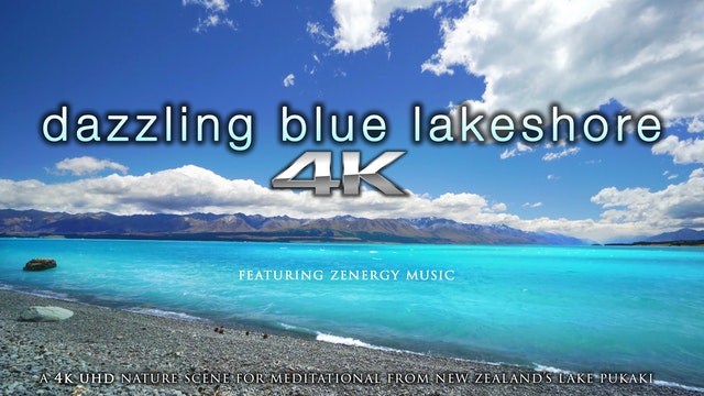 Dazzling Blue Lakeshore (+Music) 1 HR...