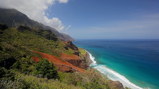 Napali Coast Waves II - 1HR Static Nature Relaxation Scene from Kauai, Hawaii