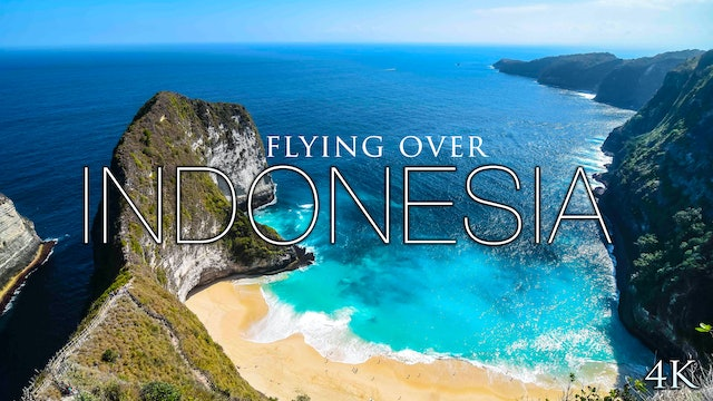 Flying Over Indonesia 30 Minute Aerial Ambient Film in 4K + Music