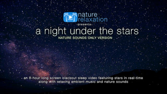 A Night Under the Stars (No Music) 8HR Sleep Video