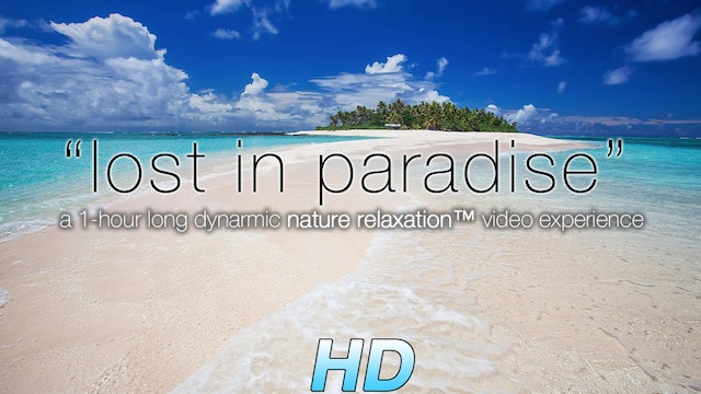 """Lost in Paradise"" 1 HR Dynamic Video with Just Nature Sounds"