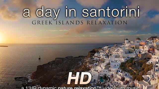 A Day in Santorini 1 HR Nature Relaxation Experience