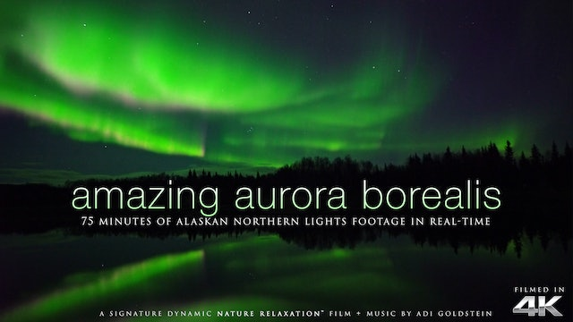 Amazing Aurora Borealis of Alaska 75 Min Dynamic Film + Music Shot in 4K