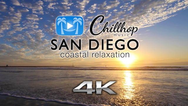 San Diego Coastal Relaxation w Chillhop Music   1 HR Dynamic Relaxation