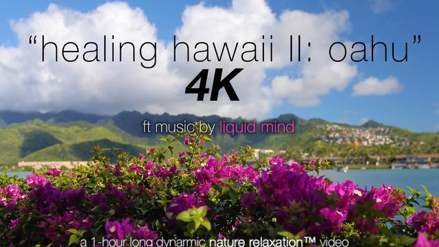 Healing Hawaii II Oahu (w Music) 1 HR Dynamic Relaxation Video