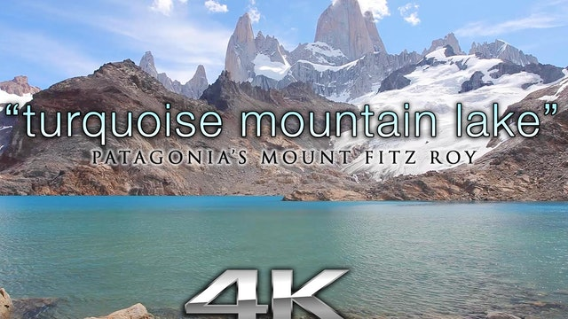 Turquoise Mountain Lake (no music) 1 Hr Static Nature Relaxation HD