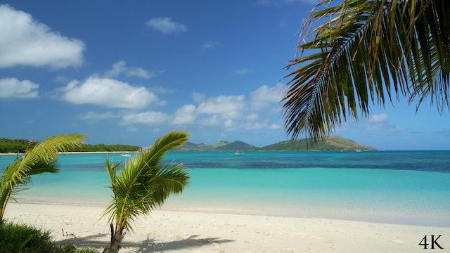 Paradise Beach 1 Hour Static 4K Nature Scene - Blue Lagoon, Fiji