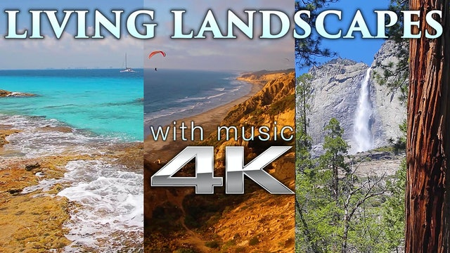 Living Landscapes (w Music) 4 HR Nature Relaxation Video