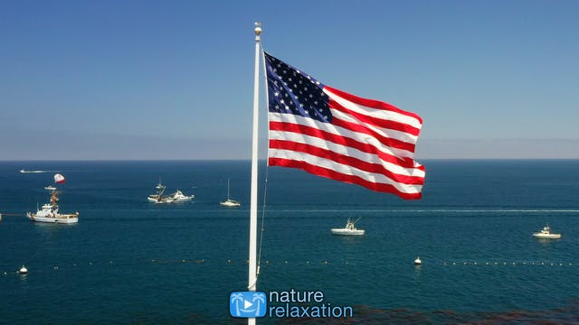 Old Glory Flying 1 Hour 4K Static Nat...