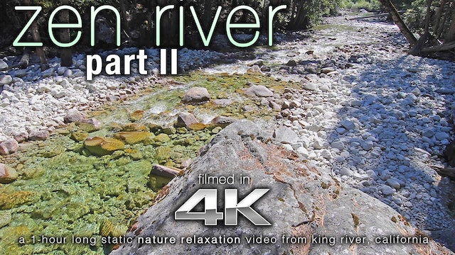 Zen River II 1 HR Static Nature Scene Shot in 4K