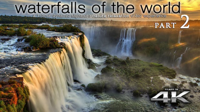Waterfalls of the World 2 | 1 HR Dynamic Nature Relaxation Video