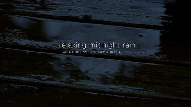 Relaxing Midnight Rain 8 Hour Dark-Sc...