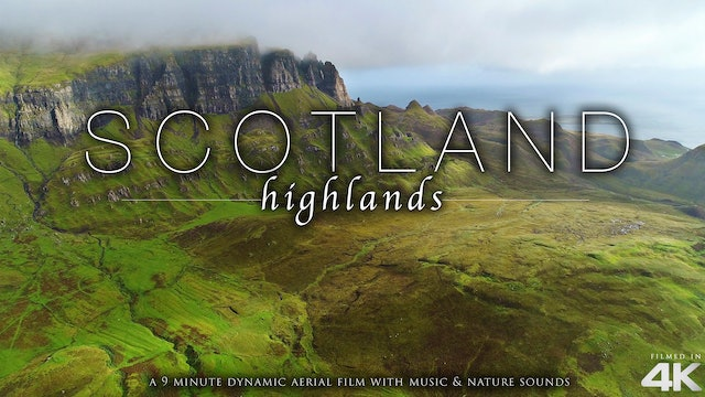 Scotland Highlands (No Music) 9 Min Dynamic Drone Film 4K