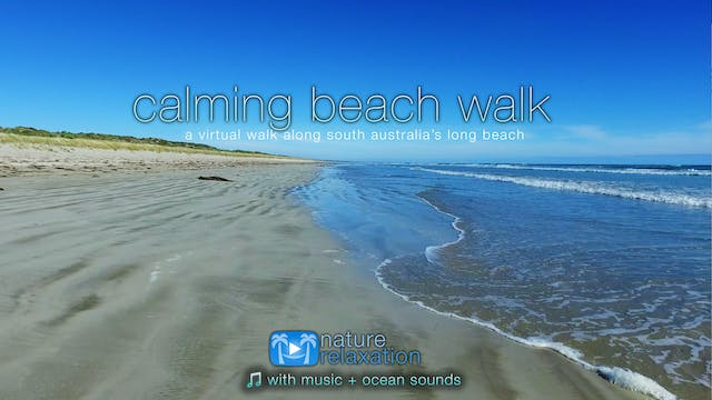 Calming Beach Walk (+Music) Australia...