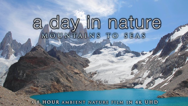"""A Day in Nature: Mountains to Seas"" (No Music) 8 Hour Ambient Relaxation Film"