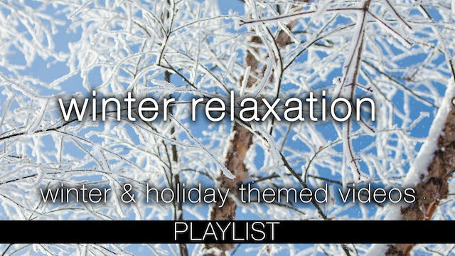 Winter Relaxation - Holiday & Winter Themed Nature Relaxation Videos