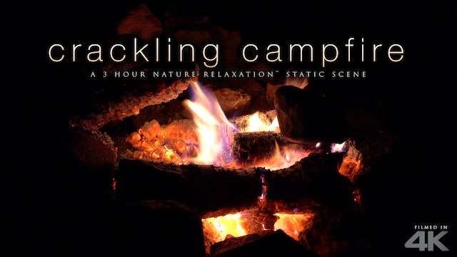 Crackling Campfire 3 HR Nature Relaxation Scene + Fire Sounds4K