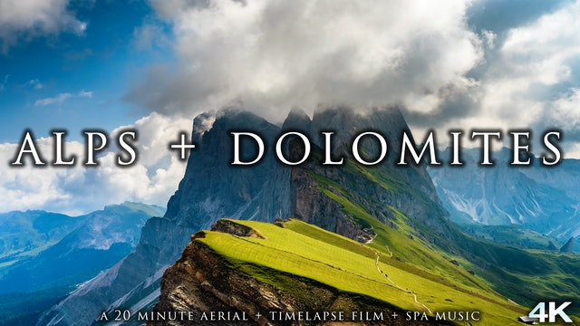 Alps + Dolomites 23 Min Timelapse + Aerial Nature Film + Music (4K)
