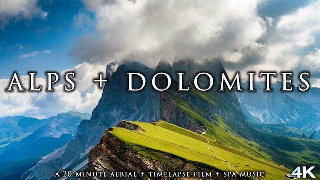Alps + Dolomites 23 Min Timelapse + A...
