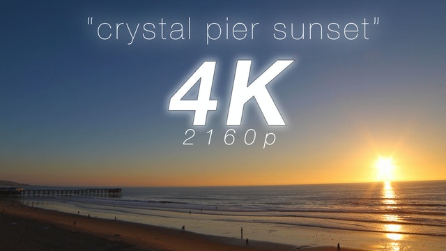 Crystal Pier Sunset 2 HR Static Nature Relaxation Scene (Real-Time)