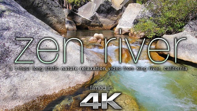 Zen River 1 HR Static Nature Scene Sh...