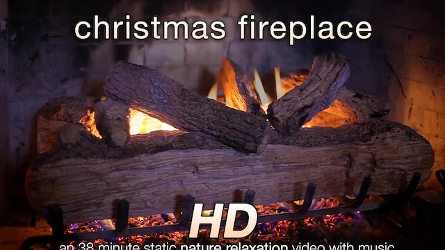 Christmas Fireplace 38 Min Music + Relaxation Video
