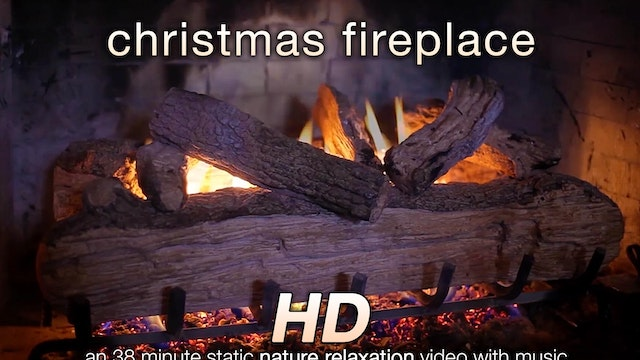 Christmas Fireplace 38 Min Music + Re...