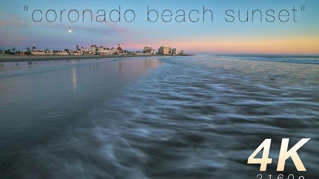 Coronado Beach Sunset 1 HR Nature Relaxation Video