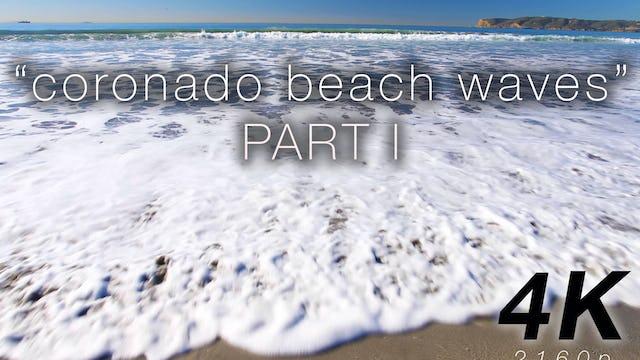 Coronado Beach Waves Part I - 1 HR Static Nature Scene