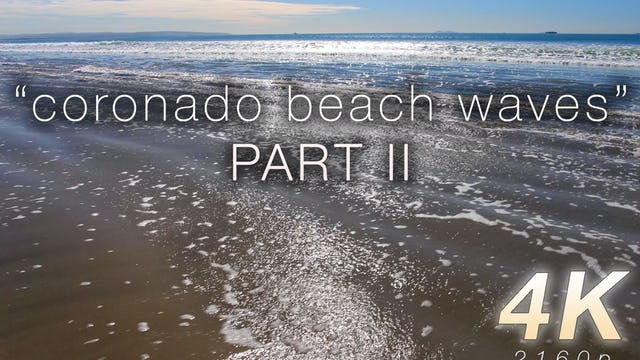 Coronado Beach Waves Part II 1 HR Static Nature Relaxation Video