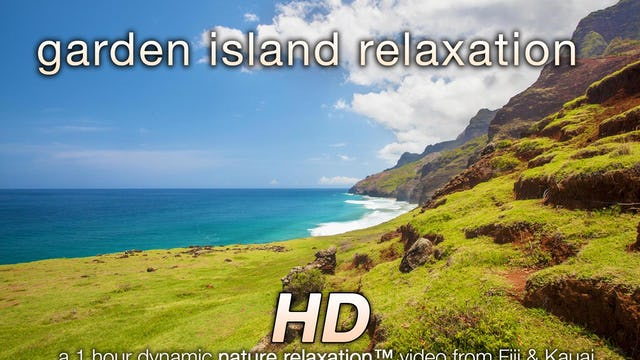 Garden Island Relaxation 1 HR Dynamic Nature Video