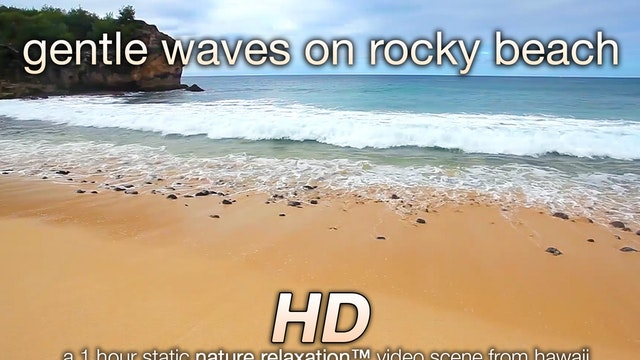 Gentle Waves on Rocky Beach 1 Hr Natu...