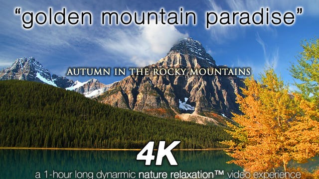 Golden Mountain Paradise JUST NATURE SOUNDS 1 HR Dynamic Video