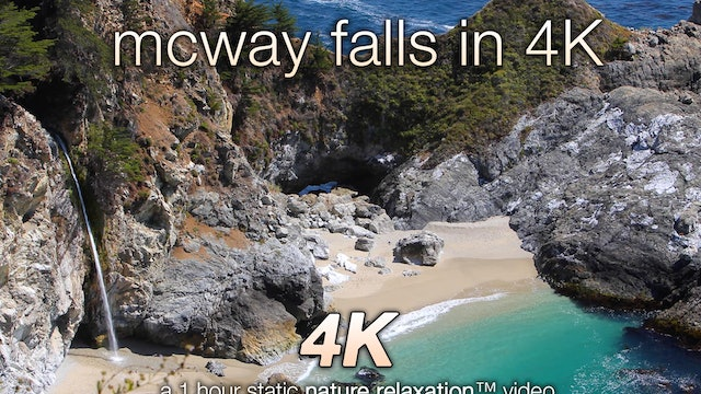 McWay Falls in 4K 1 HR Static Nature Video Scene