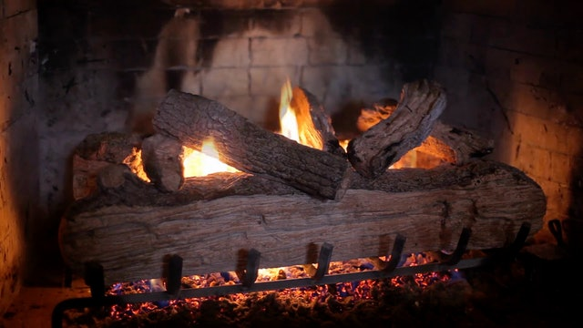 Crackling Fireplace 1 HR Relaxation Video