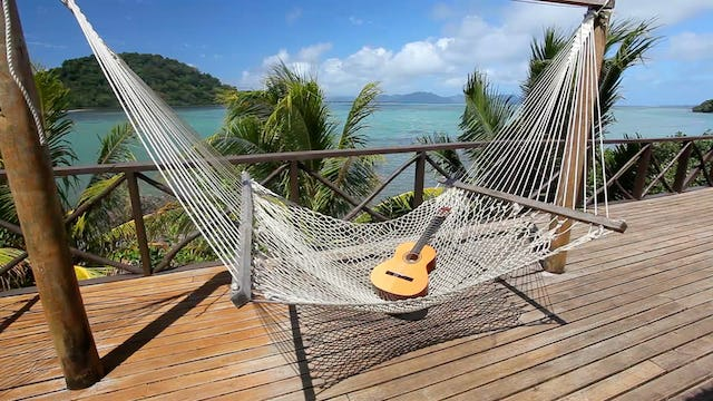 Hammock + Guitar in Paradise 1 Hour Static Nature Video