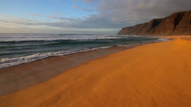 Waves Crashing on Kauai Beach 1 HR St...