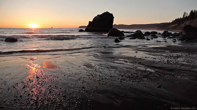 Ruby Beach Sunset - 1 HR Static Natur...