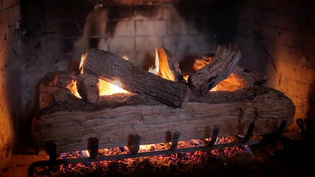 Crackling Fireplace 4 Hrs Nature Rela...
