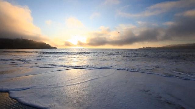 Golden Waves Crashing at Sunset 1 Hr ...