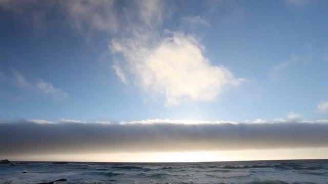 Pebble Beach Sunset Clouds 1080p