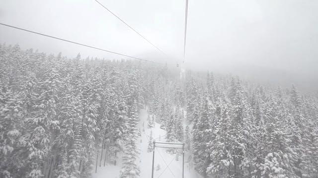 Snowy Gondola Ride 1080p w music