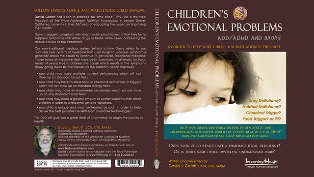 Children's Emotional Problems: ADD/ADHD and More