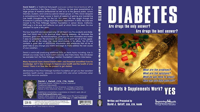 Diabetes:  Are Drugs the Only Answer?  Are Drugs the Best Answer?