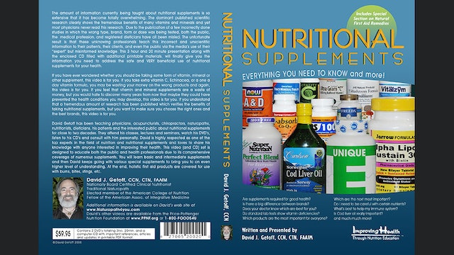 Nutritional Supplements: Everything You Need to Know (incl. first aid remedies)