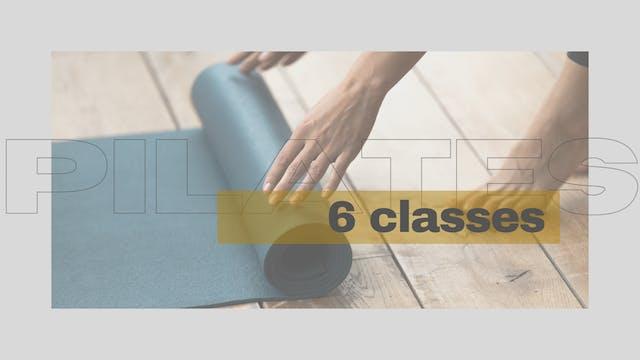 6 Class Matwork Pilates Course
