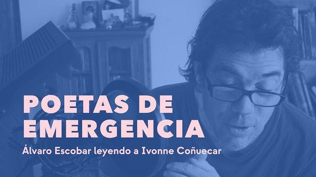 Alvaro Escobar leyendo a Ivonne Coñuecar